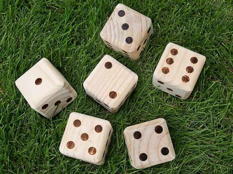 Large Wooden Yard Dice Game