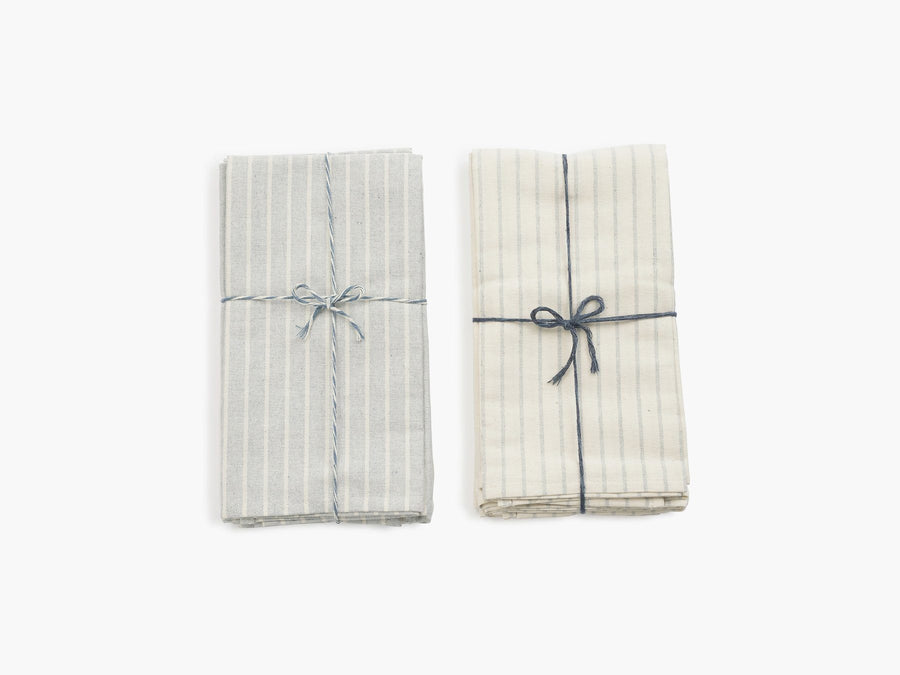 Striped Cotton Napkins - Set of 4