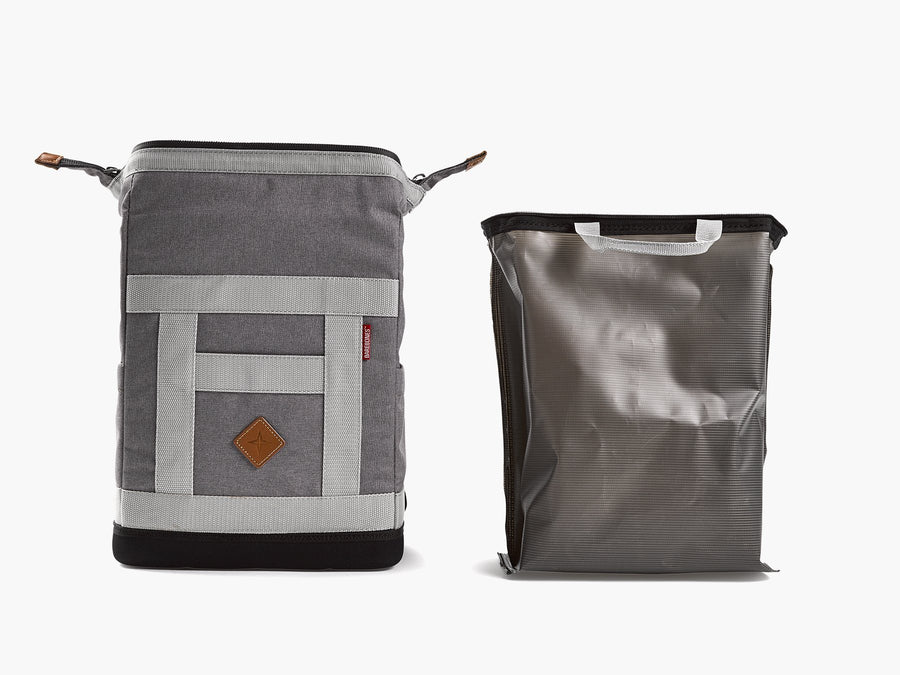 Barebones backpack soft sided cooler grey removable liner