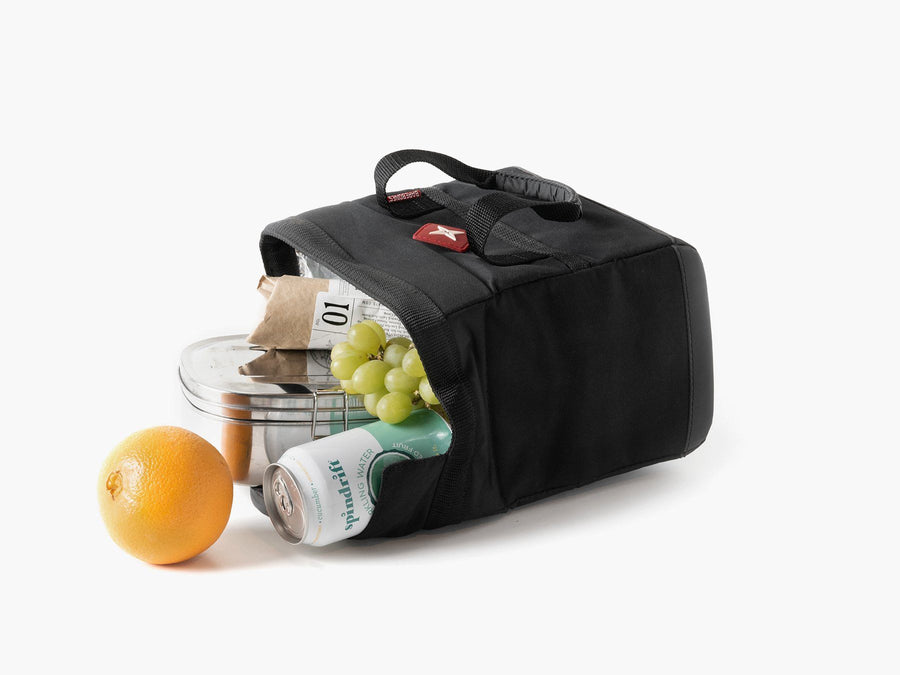 Barebones small soft sided lunch cooler black