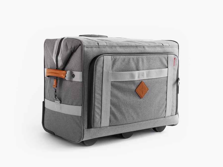 Barebones large rolling soft sided cooler grey