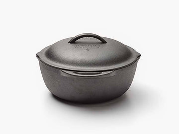Large capacity space for hearty recipes and easy-pour sides make the Cast Iron Crock a chef's essential. Enjoy versatile use with a lid that seals the pot…