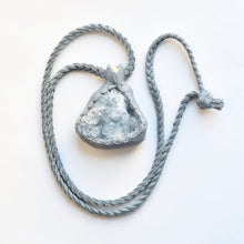 Load image into Gallery viewer, Blue Celestite Cluster Necklace