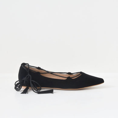 Ballet Flats with Lace Up