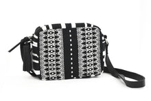 Load image into Gallery viewer, Alba Crossbody : Black Midnight Triangles