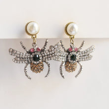 Load image into Gallery viewer, Glitter and Glam Bug Earrings