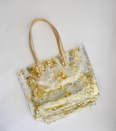 Packed Party Gold Stars Bucket Bag