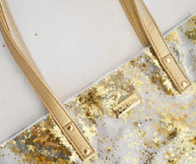 Load image into Gallery viewer, Packed Party Gold Stars Bucket Bag