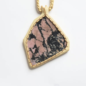 Rhodonite Stone Necklace