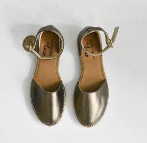 Espadrilles in Metallic Bronze