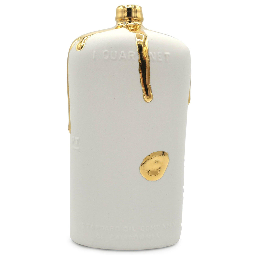 Ceramic Motor Oil Bottle - White with 22k Gold-Luxury Lifted-White-Luxury Lifted