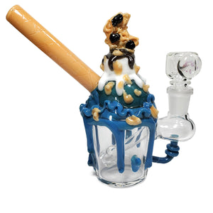 Cookie Monster Ice Cream Sundae Mini Bong-water pipe-Luxury Lifted