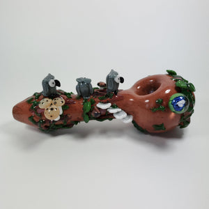 Forest Owl Glass Pipe-Luxury Lifted