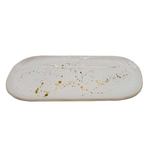 Ivory Rolling Tray with 22k Gold Luster-Luxury Lifted