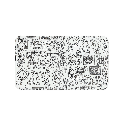 K. Haring Rolling Trays-Luxury Lifted-black and white-Luxury Lifted