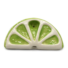 Load image into Gallery viewer, Ceramic Citrus Slice Pipe - Lime