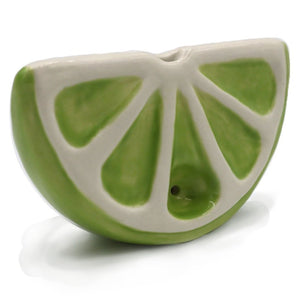 Ceramic Citrus Slice Pipe - Lime