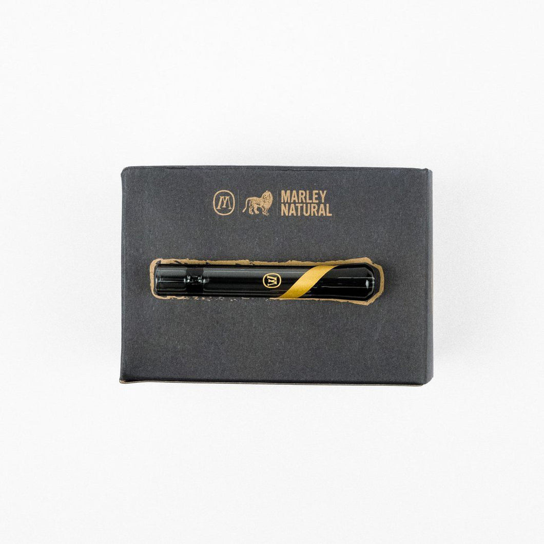 Marley Natural Smoked Glass One Hitter with Gold Stripe-Luxury Lifted