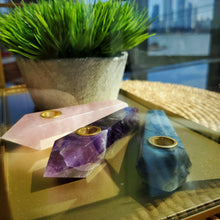 Load image into Gallery viewer, Rose Quartz Crystal Pipe-Luxury Lifted