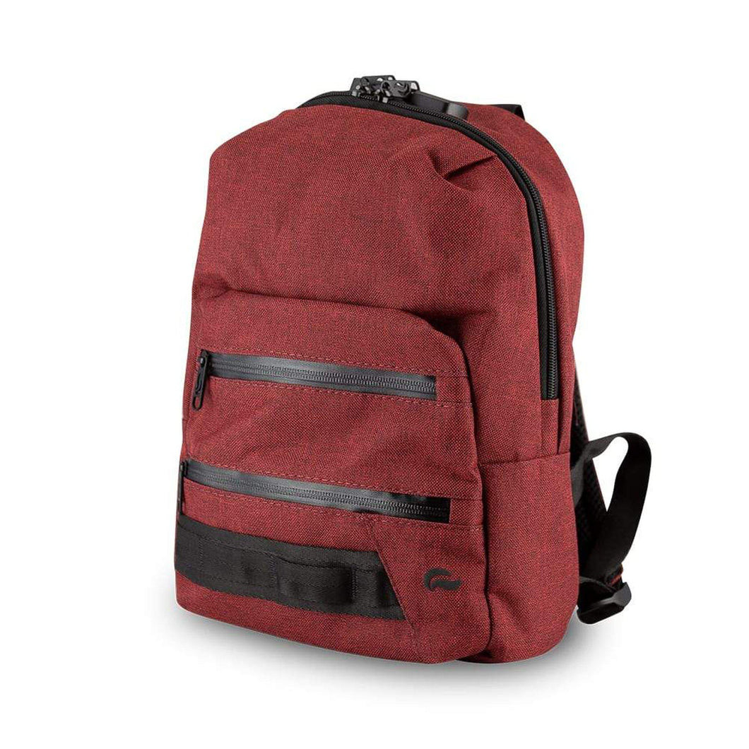 Skunk Bags Smell-Proof Mini Backpack in Burgundy-Luxury Lifted