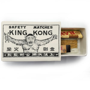 Vintage Printed Ceramic Matchbox - King Kong--Luxury Lifted