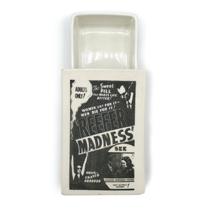 Vintage Printed Ceramic Matchbox - Reefer Madness--Luxury Lifted