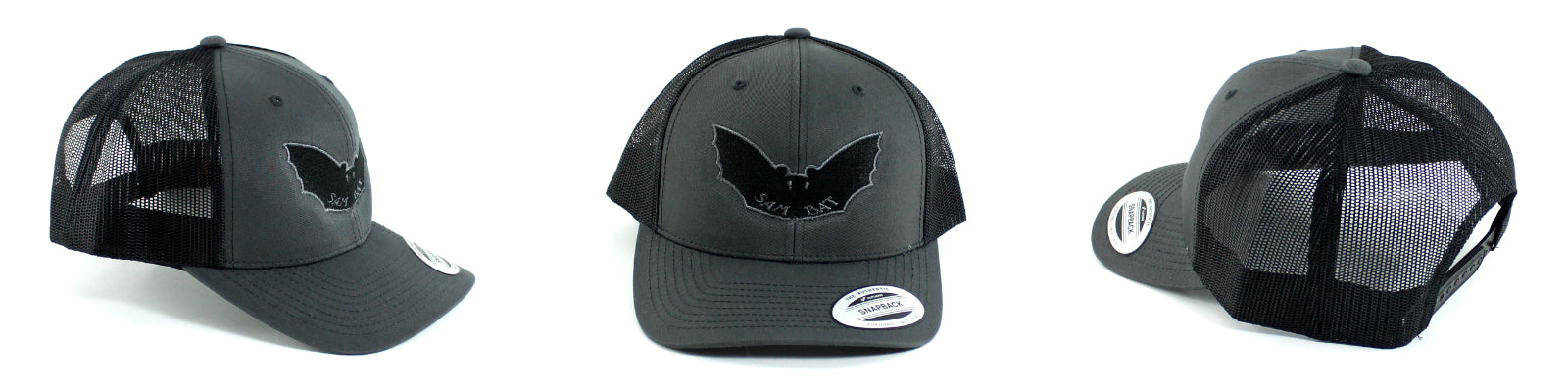 Sam Bat Retro Trucker - Black/Grey