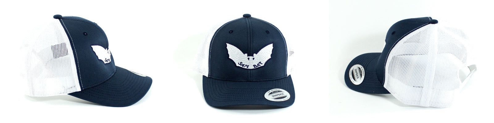 Sam Bat Retro Trucker - Navy/White
