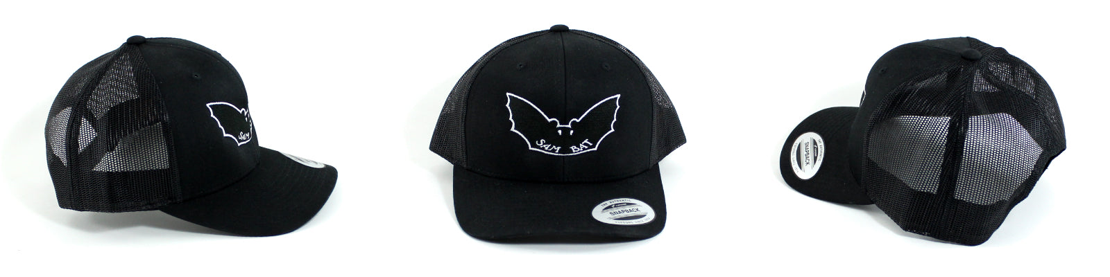 Sam Bat Retro Trucker - All Black