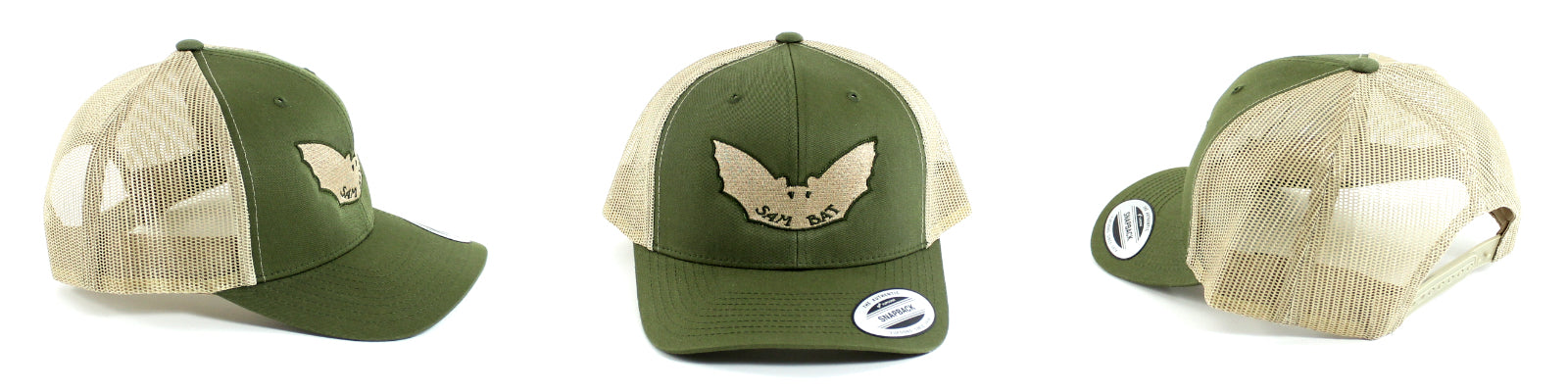Sam Bat Retro Trucker - Moss/Khaki