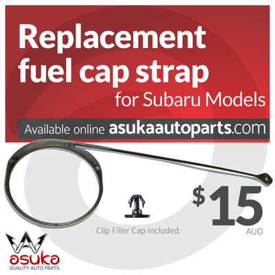 asuka auto parts, fuel cap strap replacement, subaru fuel cap strap
