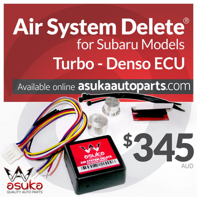 Air system delete, subaru parts, subaru turbo, denso ecu, asuka parts