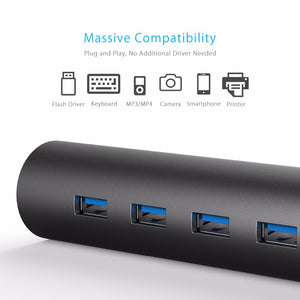 4 Port Aluminum Superspeed USB3.0 HUB with Phone Stand Function - GamechangerKing