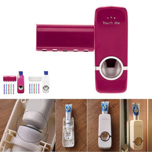 Automatic Toothpaste Dispenser & Toothbrush Holder Set - GamechangerKing