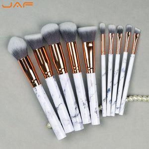10 PCS Marble Pattern Makeup Brushes - Vegan Make Up Brush - GamechangerKing