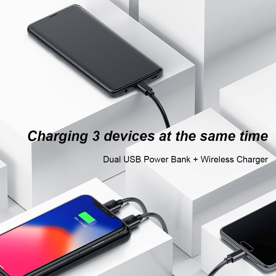 LCD 8000mAh Charging Pad - QI Wireless USB Power Bank - GamechangerKing