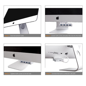 USB 3.0 HUB - 4 Port Adapter Interface for iMac Unibody - GamechangerKing