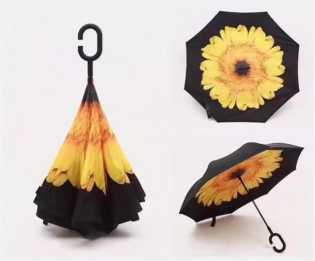 High Quality Windproof Reverse Folding Umbrella - GamechangerKing