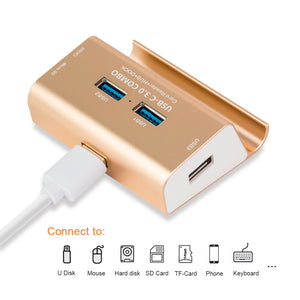 USB 3.0 Hub with SD/MicroSD Card Reader - GamechangerKing