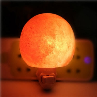 Natural Himalayan Hand Carved Salt Lamp with Bulb 360 Degree Rotation US Plug Christmas Birthday Gifts - GamechangerKing