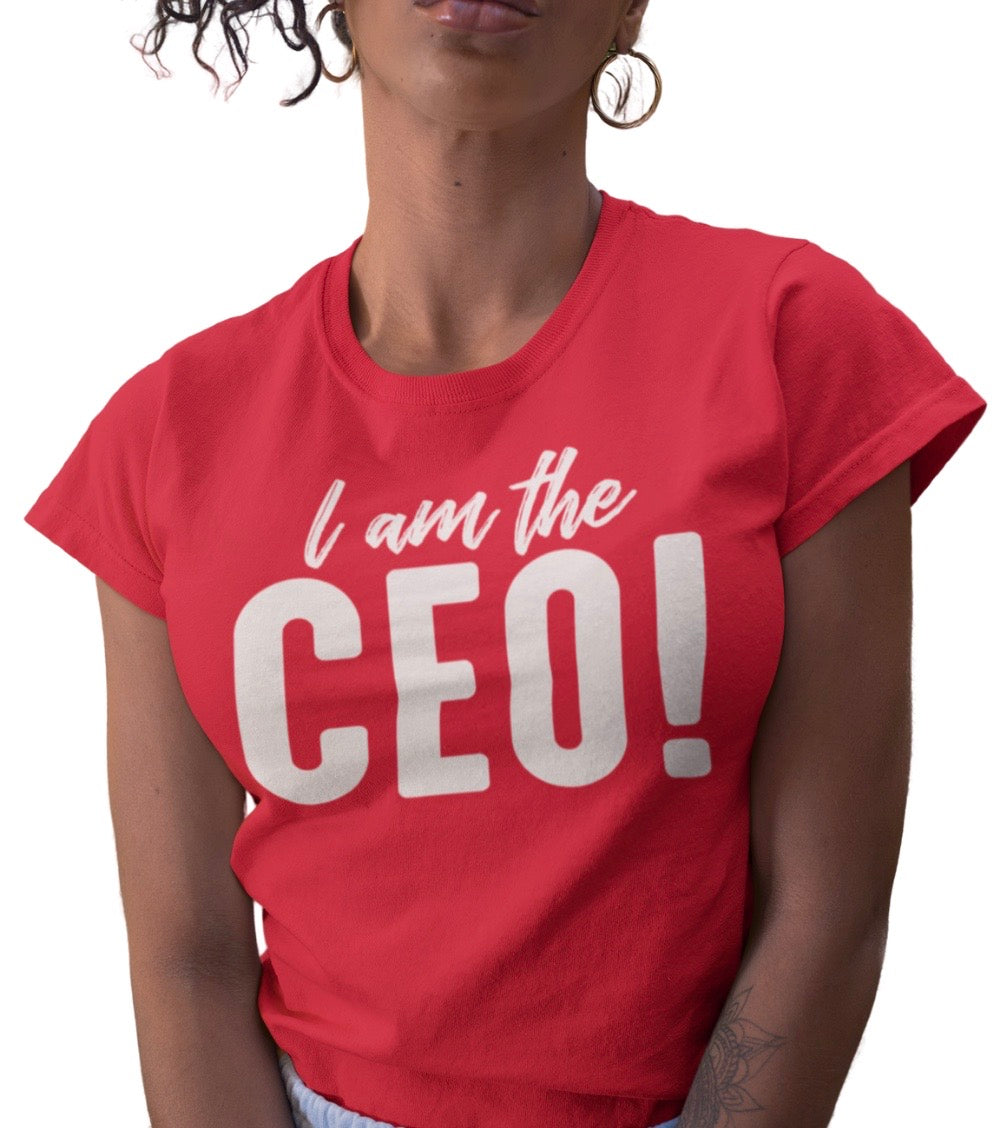 I AM THE CEO RED TEE