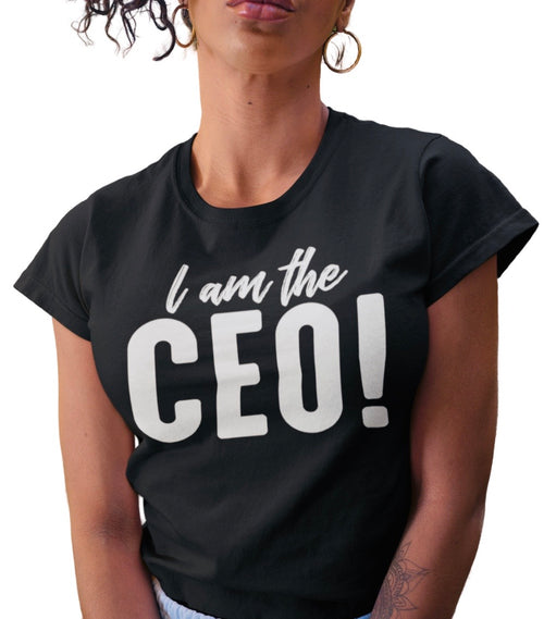 I AM THE CEO BLACK TEE