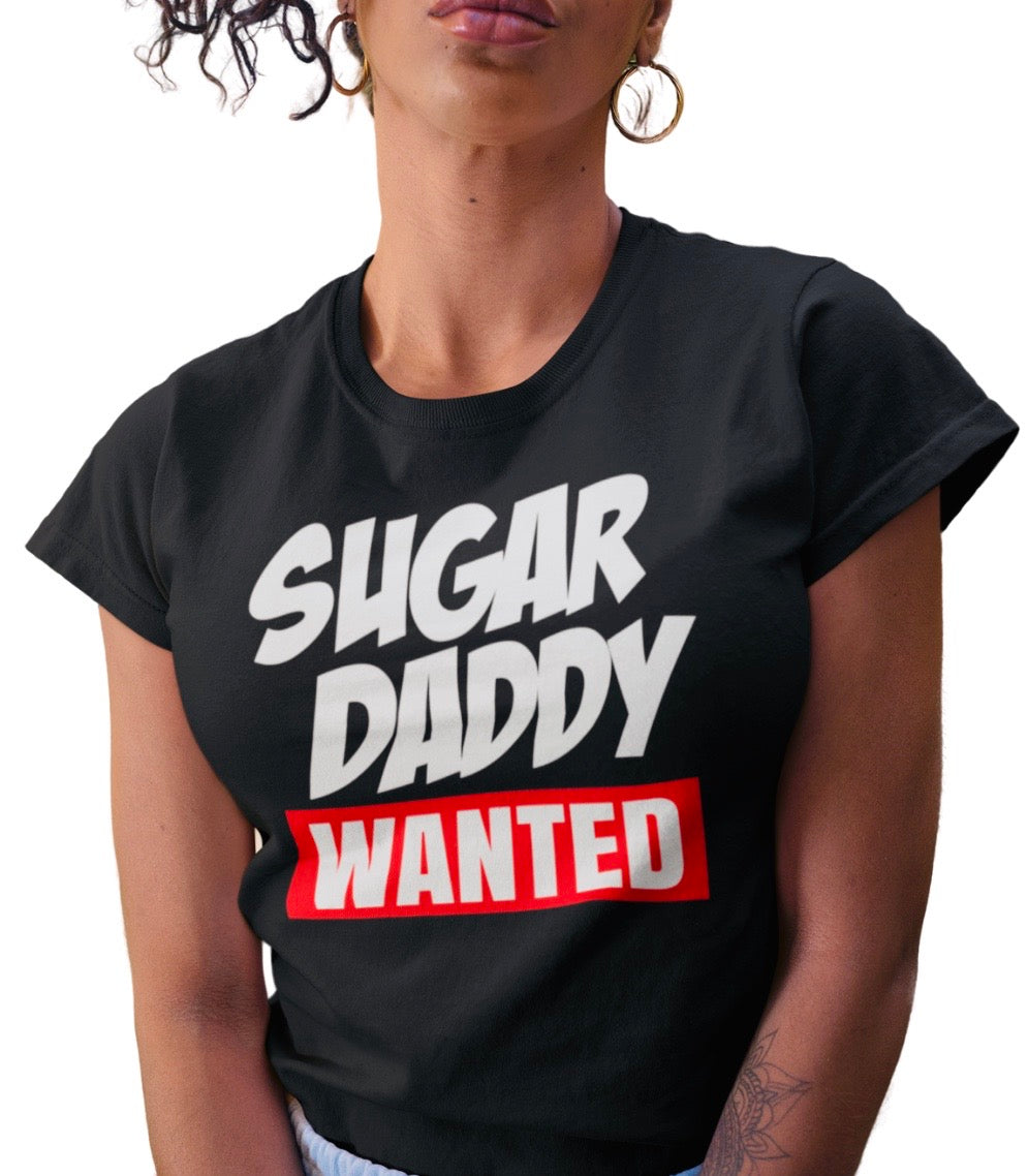 Sugar Daddy Wanted Black Tee