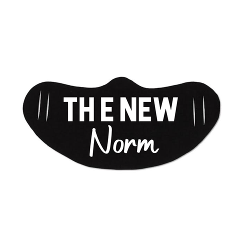 THE NEW NORM MASK. LARGE PRINT