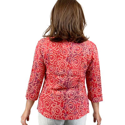 AnRa ARTWEAR Bluse orange Rücken