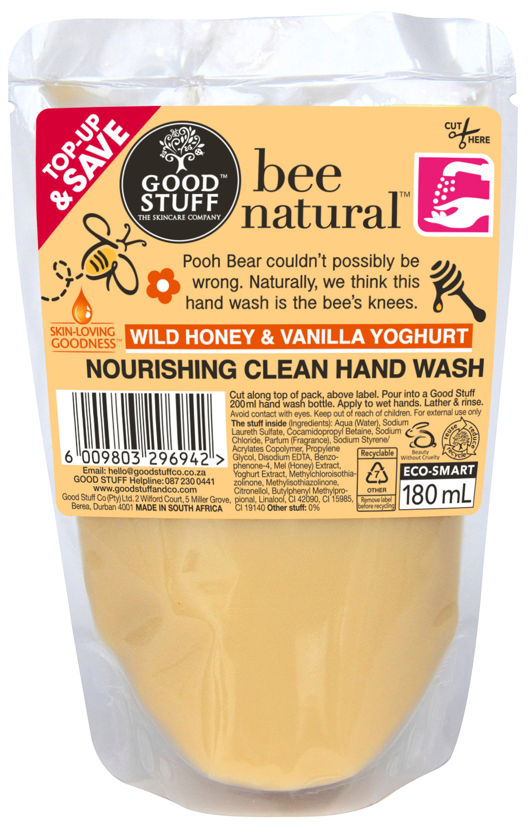 LHS Bee Natural Hand Wash Doy 180ml