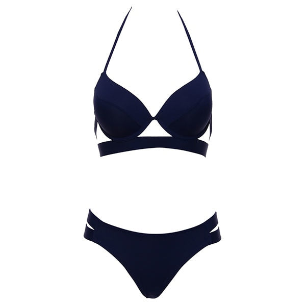 Andzhelika Bikinis Women Bandage Swimsuit Bikini 2019 Sexy Push Up Swimwear Low Waist Bathing Suit Halter Bikinis Suit Swim