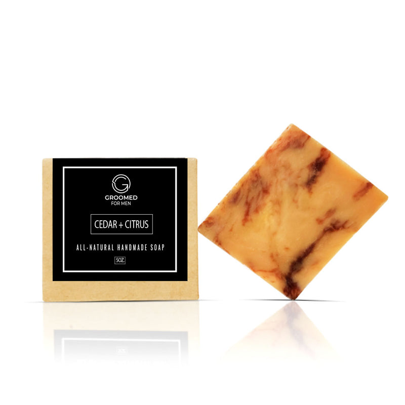 cedar citrus natural soap
