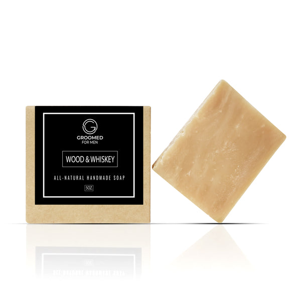 wood & whiskey natural soap