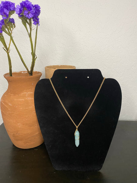 Light Blue Gemstone Necklace